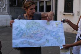Our tour guide showing us that Venezia is in the shape of a fish. :) , Nikki H - October 2011