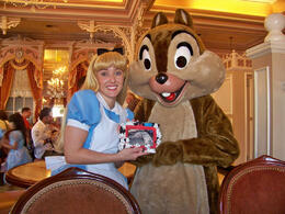 Photo of Orlando Disney Character Breakfast at Disney's Grand Floridian Resort Alice and Chip and Birney at Breakfast in the Park with Minnie & friends
