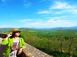 Me enjoying the view under the Tuscan sun , Lee - April 2015