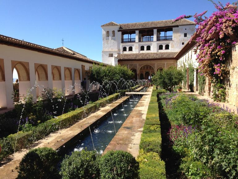 Garden at the Alhambra Palace