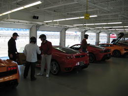 Getting into the Ferrari - red of course! - March 2011