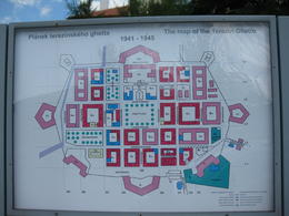 Map of the Terezin Ghetto you get to visit before going to the camp , Malcolm S - August 2013
