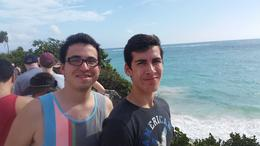 My sons, Eduardo and Daniel, enjoying their day at Tulum , eduardobrito - December 2014