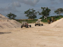 Drove through a gravel quarry on dune buggys on way to Punta Cana villages. , Brenda H - December 2010