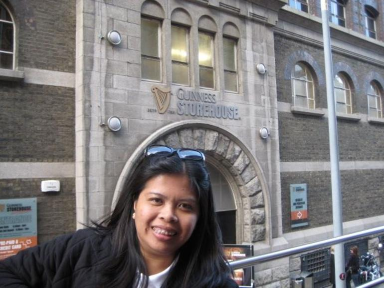 in front of the guinness house - Dublin