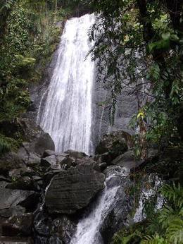 Photo of San Juan El Yunque Rainforest and Luquillo Beach from San Juan La Coca Wasserfall
