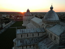View from the top of the leaning tower at sunset. , Cassandra B - March 2015