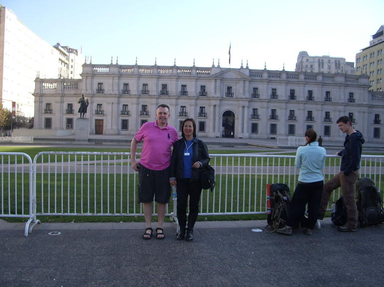 Me with Gladys, our Guide - Santiago