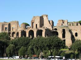 Palatine Hill is one of the first stops on the tour., Erin H - October 2009
