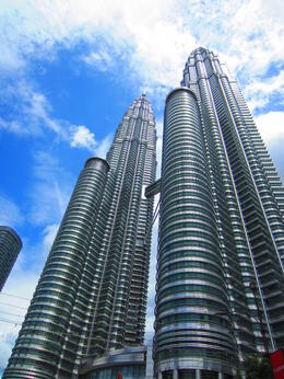 Petronas Towers from the ground up in KL , Nadia S - March 2013