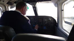 Photo of Dublin Aran Islands Scenic Flight and Galway Tour from Dublin Pilot getting ready to take off