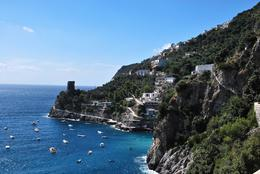 On the way to Positano. I believe the tower is Medieval, Michael K - September 2010