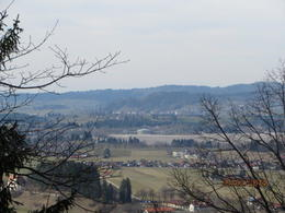 A beautiful view of the valley and town below Neuschwanstein Castle. , Phillip S - March 2014