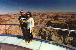 My and my husband on the Skywalk in the Grand Canyon , Astrid B - April 2014
