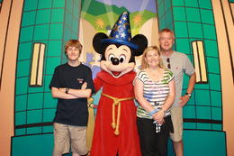 With Mickey! - September 2014