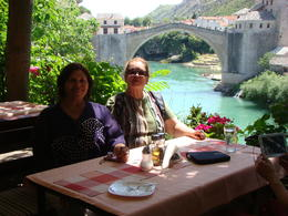 Photo of Dubrovnik Small-Group Bosnia and Herzegovina Day Trip from Dubrovnik including Medjugorje and Mostar A coffee close the Mostar bridge.