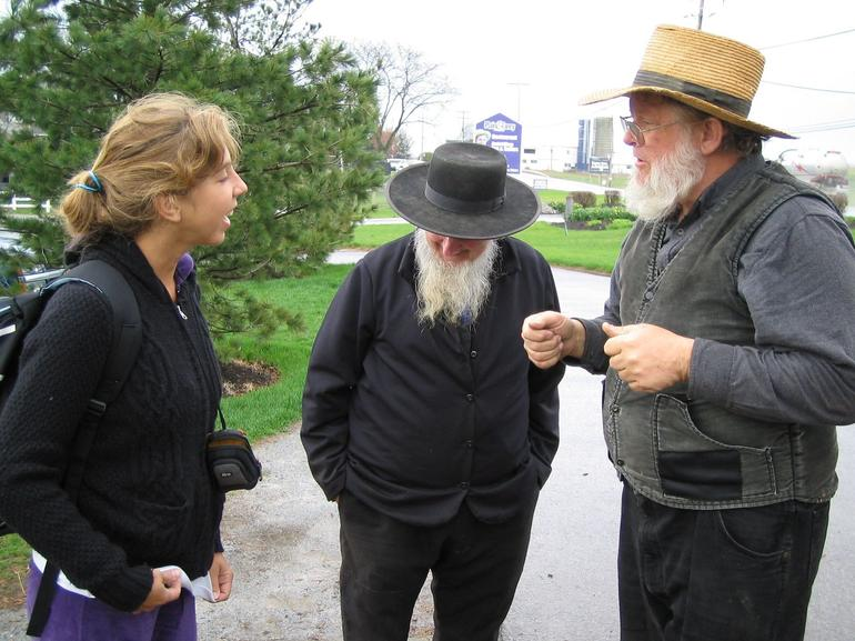 A nice talk with Amish people - New York City