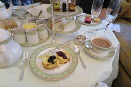Photo of   A wonderful High Tea with lovely tea and Champagne