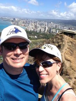 Becky and Neal atop Diamond Head , RNE - April 2014