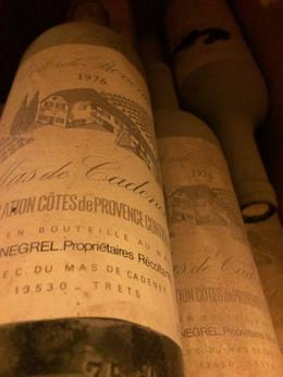 This a bottle of wine from 1976, the year I was born. They displayed these bottles in the library of older vintages , irishgal76 - July 2014