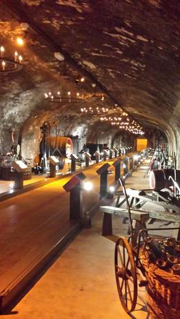 Museum area in the cellars showing machinery/equipment used in earlier times , Ian T - April 2014