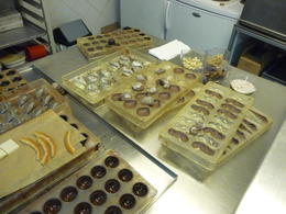 Photo of Brussels Brussels Chocolate Walking Tour and Workshop Chocolate making