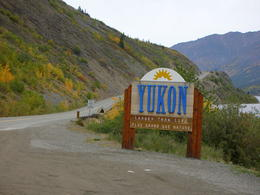 The end of the tour at the sign of Yukon. , SIU C - September 2011