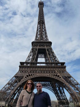 my husband and i after our Eiffel tower lunch , Jennifer M - April 2011