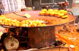 Photo of New Delhi Small-Group Food Walking Tour in Delhi Including Rickshaw Ride Fried Potatoes