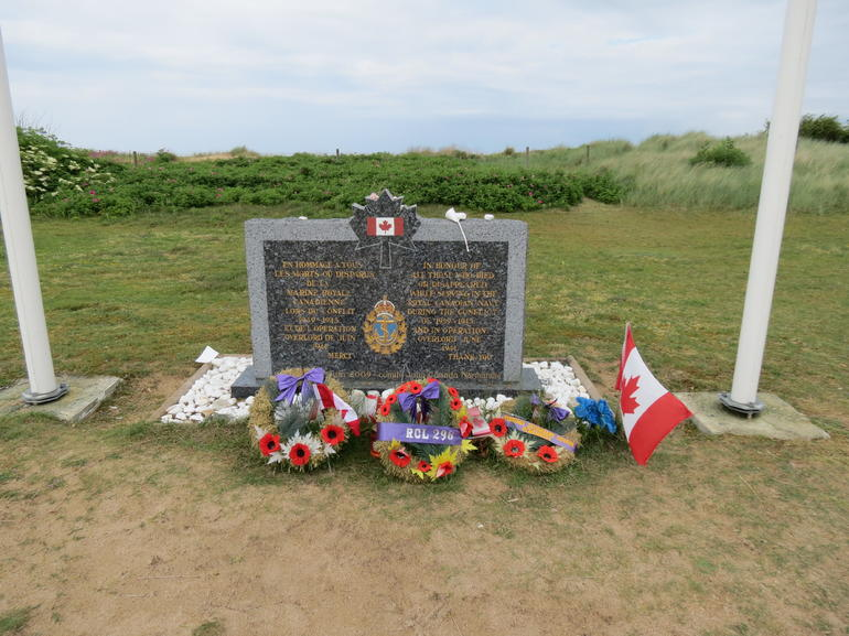 Memorial outside the Museum at Juno Beach - Bayeux