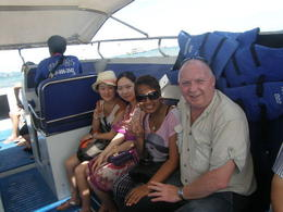 Photo of   On board the speedboat heading off to Coral Island