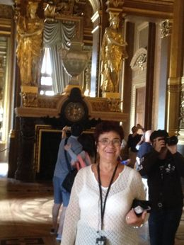 Dina is enjoying her dream visit to Opera Garnier! , Micahel S - November 2015