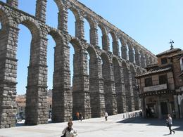 2000 year old aqueduct that was built to bring mountain water to the city of Segovia., Chris H - April 2010