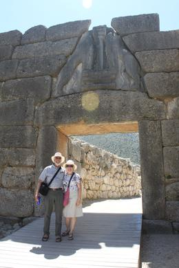 Photo of Athens 4-Day Classical Greece Tour: Epidaurus, Mycenae, Olympia, Delphi, Meteora Anne and Tom at the Lion Gate - Mycenae