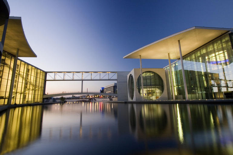 Architecture along the banks of the Spree - Berlin