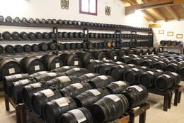 The barrels of aging balsamic. , Cindy H - October 2013