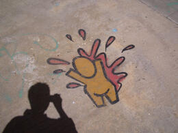 The pavement is not the regular place to find graff, but this one caught my attention. , ROD C - February 2012