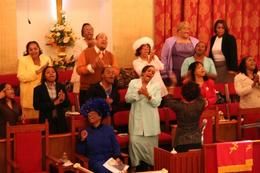 The Gospel service is a real happening. - April 2008