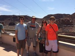 Our family with the Hoover Dam as our backdrop. , Noahsarkmama1 - August 2015
