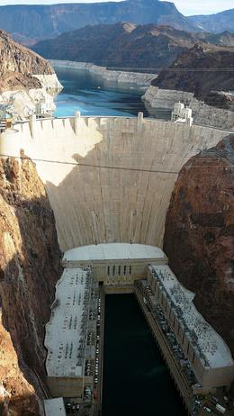 A view of Hoover Dam taken from the new bridge. , dmt49 - December 2014