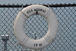 Photo of San Diego USS Midway Museum Life Ring