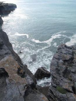 Photo was taken while standing on the edge of the cliff and looking down. Quite scary but thrilling at the same time! , Rebecca B - April 2013