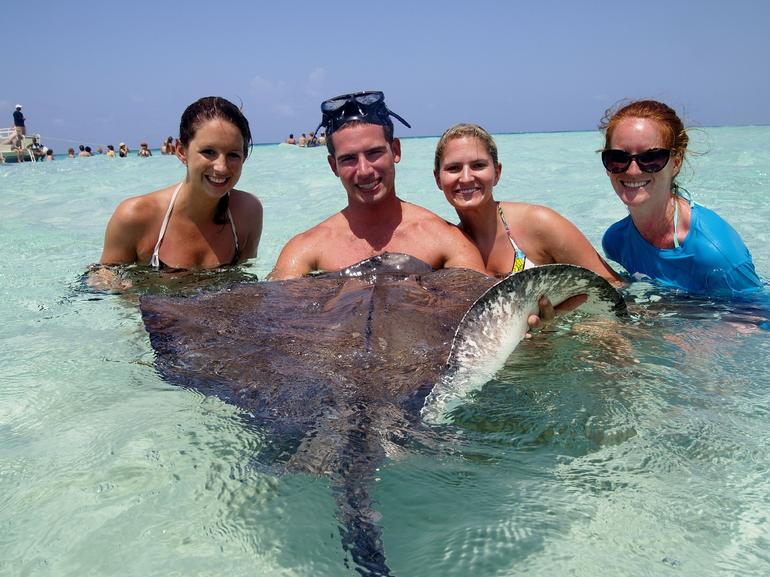 Our first Stingray Encouter! - Cayman Islands