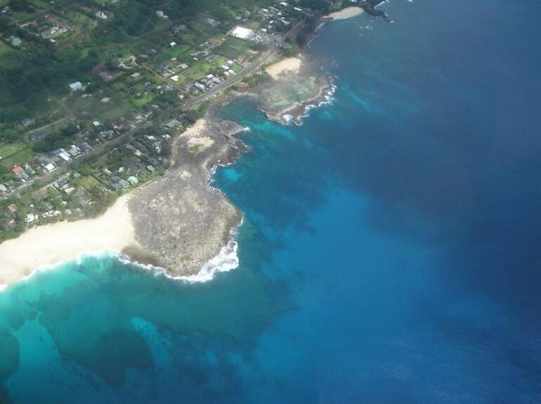 Shore from helicopter - Oahu