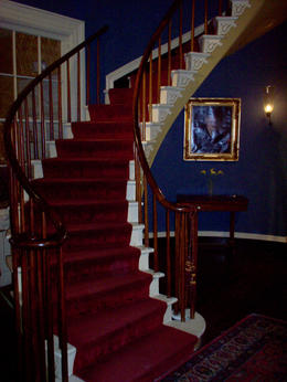 Staircase at Houmas House Plantation. Bette Davis stayed in the house during the filming of the the 1964 Horror Classic and quot;Hush, Hush Sweet Charlotte. and quot; , KENT B - May 2013