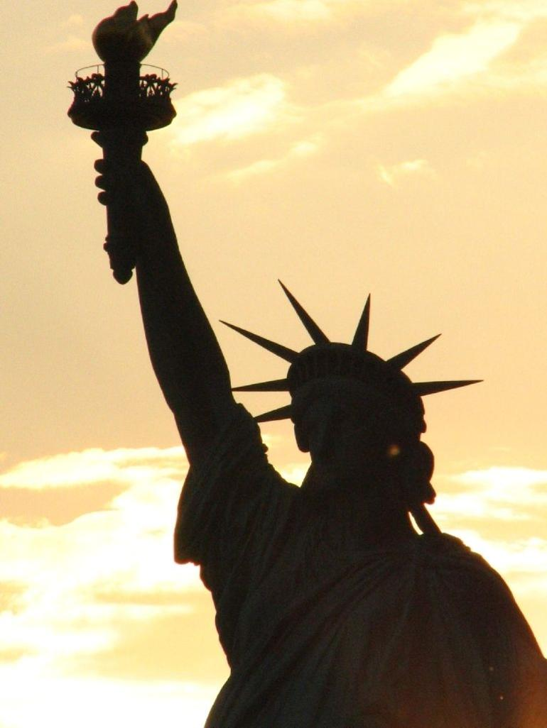 Statue of Liberty at sunset - New York City
