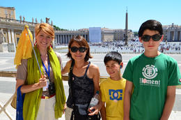 Vatican with our friendly guide, Jeff - July 2013