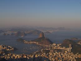 View from Corcovado near sunset , Abigail - August 2013