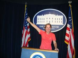 Visiting Madame Tussaud Museum in Washington. My wife, Rosely speaking in Washington., FRANCISCO A - June 2010