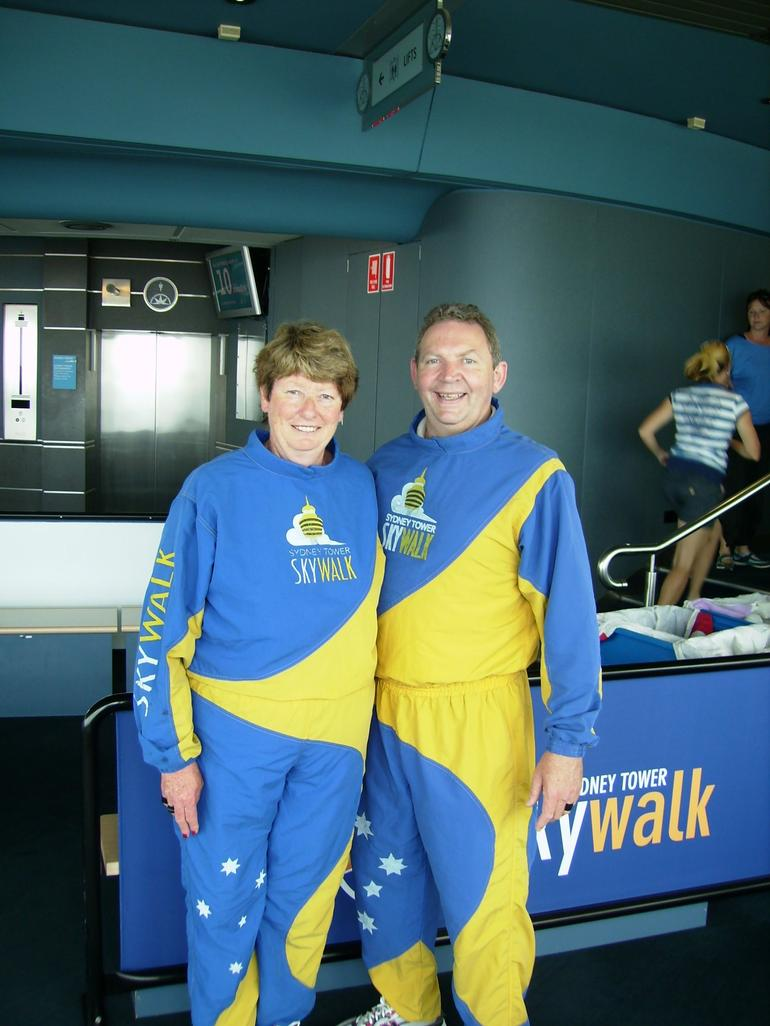 Anne & Gordon after completing Skywalk - Sydney